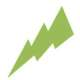 green thunder bolt